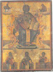 - Saint Nicolas Le saint évêque est représenté...