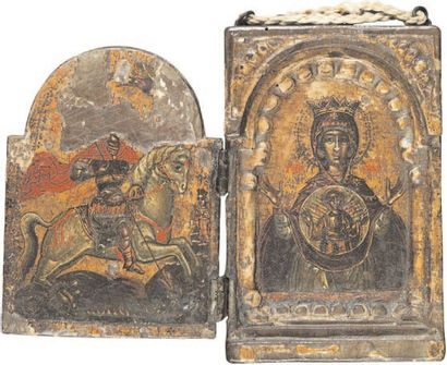 - Diptyque - Vierge du Signe et Saint Georges...