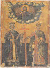 - L'empereur Constantin et sainte Hélène...