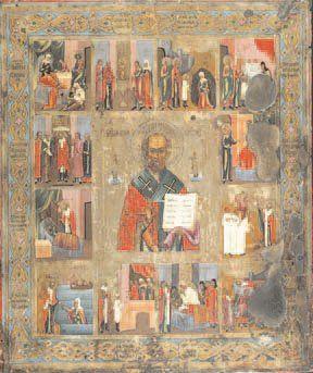 - Saint Nicolas et douze scènes de sa vie...