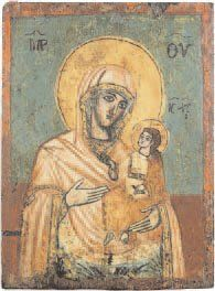 - Vierge à l'Enfant Tempera sur bois. Grèce,...