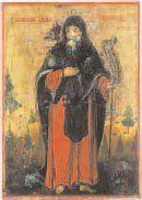 - Saint Antoine Tempera sur bois. Grèce,...