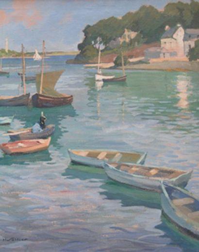 Bateaux sur l'Odet à Sainte-Marine Huile...
