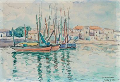 Albert Marquet (1875-1947) Les Sables d'Olonne Aquarelle, signée en bas à droite...