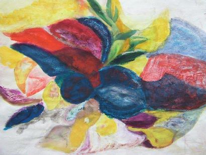 KOLOZS-VARY Tao Compositions Cinq peintures sur papier