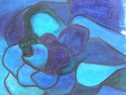 KOLOZS-VARY Tao Compositions Quatre peintures sur toile