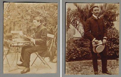 SEVERINI (Gino) Réunion de 2 clichés photographiques...