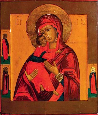 La Vierge de Vladimir La Mère de Dieu serre...