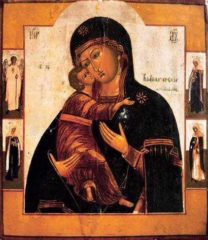 La Vierge de Vladimir Cette icône souligne...