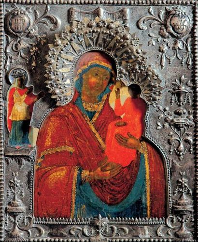 La Vierge de Schuiu Smolensk Marie, dans...