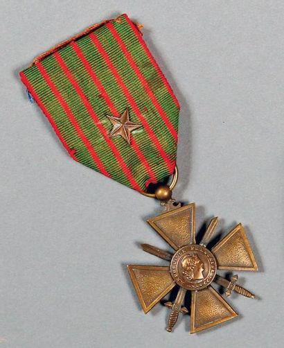 APOLLINAIRE (Guillaume). Sa Croix de guerre,...
