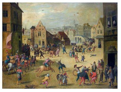 Attribué à Louis de CAULLERY (avant 1582- vers 1621) et Joos de MOMPER (1564-1634)