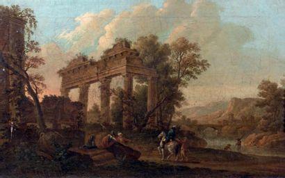 École ROMAINE vers 1770, suiveur de Ghisolfi