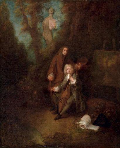 Attribué à Antoine WATTEAU (Valenciennes 1684 - Nogent-sur-Marne 1721)