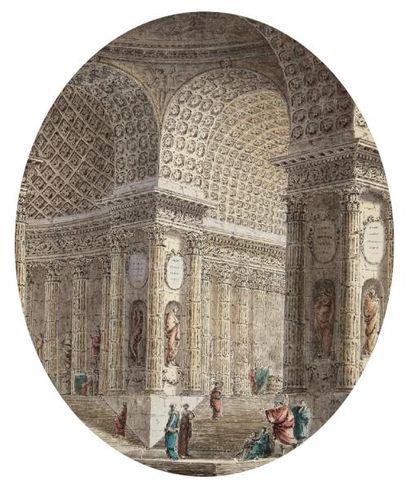 Attribué à Jean Henri Alexandre PERNET (actif à partir de 1765 - mort après 1789)