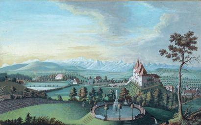 ECOLE SUISSE DE LA FIN DU XVIIIe SIÈCLE