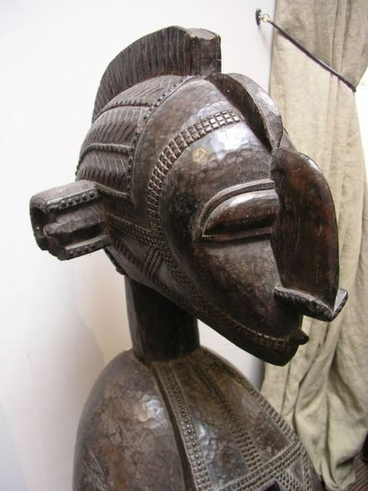 Masque d'épaule Baga (Nimba). Sculpture des...