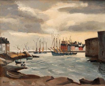 Edmond CERIA (1884-1955) L'avant-port Huile sur toile. Signée en bas à gauche. 38...