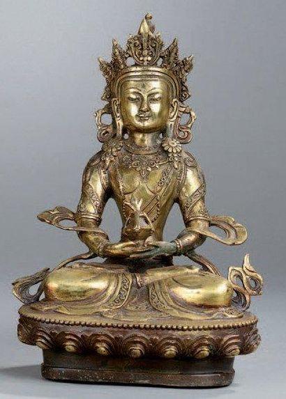 STATUETTE D'AMITAYUS en bronze, représenté...