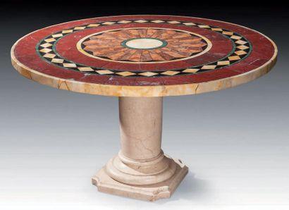 TABLE DE SALLE A MANGER, le plateau circulaire...