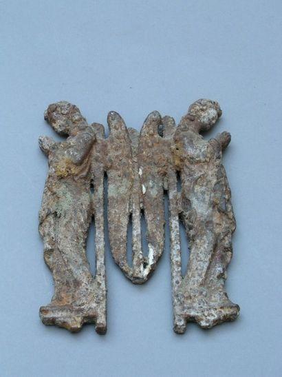 ELEMENT décoratif en fonte de fer représentant...