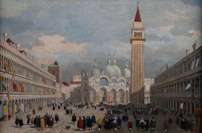 Suite de TROIS GRAVURES en couleurs Venise...