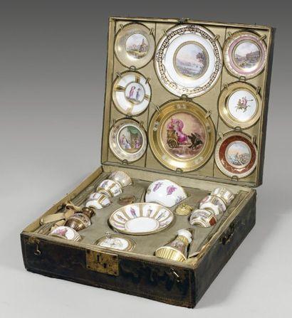 Déjeuner en porcelaine de NAPLES, vers 1790-1806. Rare...
