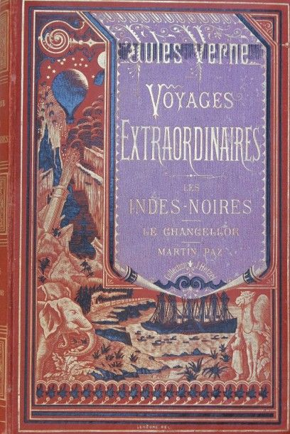 Les Indes-Noires. Jules Verne, Voyages Extraordinaires,...
