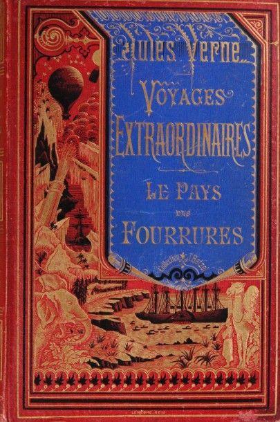 Le Pays des fourrures. Jules Verne, Voyages...