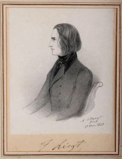 LISZT (Franz). - ORSAY (Alfred Guillaume, Gabriel, comte d') 1801-1852