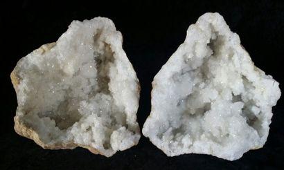 GÉODE complète de quartz blanc, Maroc. H....