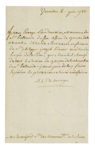 lamballe (Marie-Thérèse-Louise de Savoie Carignan, princesse de). 1749-1793. Confidente...