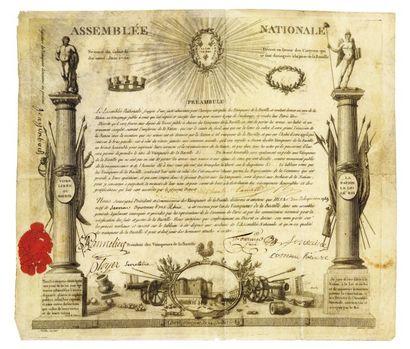 vainqueurs de la Bastile. 1790.