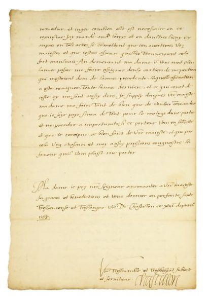 COLIGNY (Gaspard de Chastillon, comte de).