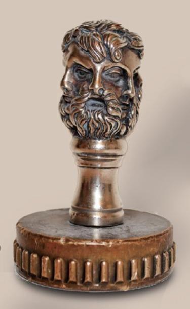 Dieu JANUS, bronze argenté, référence N°114...