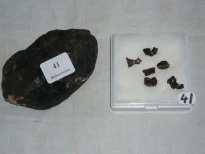 Lot: CHONDRITE NWA 869 d'Algérie L. 4,3 cm....