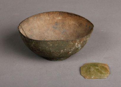 Lot: coupe Perse et médaillon Byzantin.