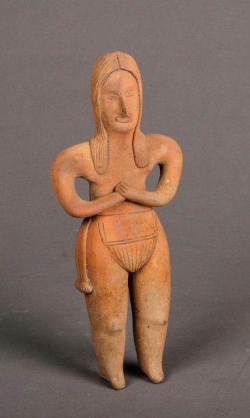 Statuette anthropomorphe représentant une...