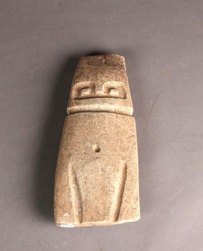 Idole anthropo-zoomorphe présentant probablement...