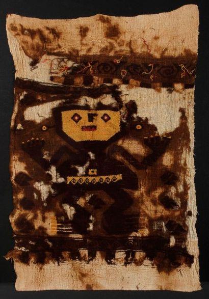 Tissus de laine sur gaze représentant un...
