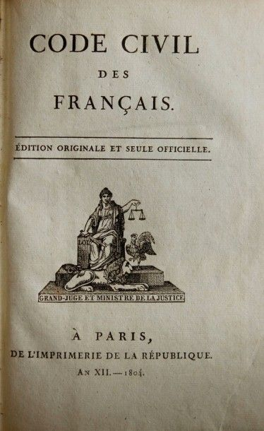 Code civil des Français, édition originale...