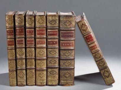 MANUSCRIT DE 1731 ET 1732. Sept volumes in-4,...