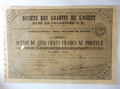 SOCIETE DES GRANITS DE L'OUEST; action N°...