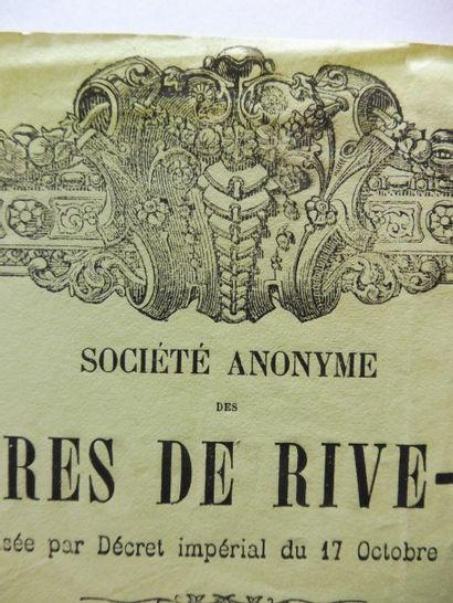 HOUILLERES DE RIVE –DE- GIER action au porteur...