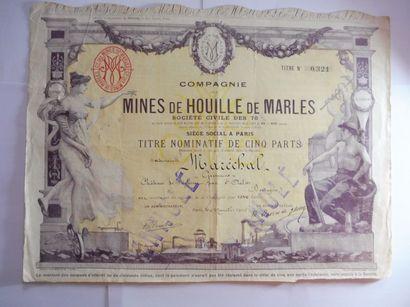COMPAGNIE DES MINES DE HOUILLE DE MARLES...