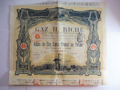 GAZ H. RICHE action N° 1355 sur 5000 en date...