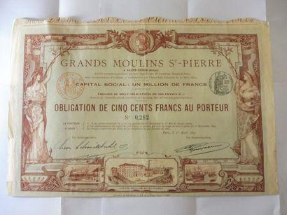 GRANDS MOULINS ST PIERRE obligation N° 282...