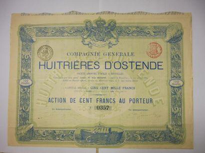 COMPAGNIE GENERAL DES HUITRIERES D'OSTENDE...