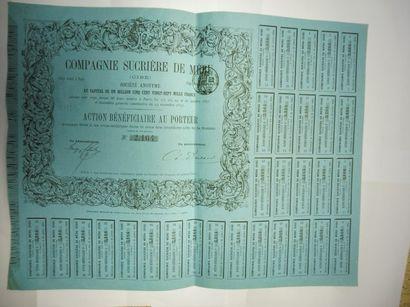COMPAGNIE SUCRIERE DE MERU action N° 2164...