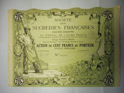 SOCIETE DES SUCRERIES FRANCAISES action N°...